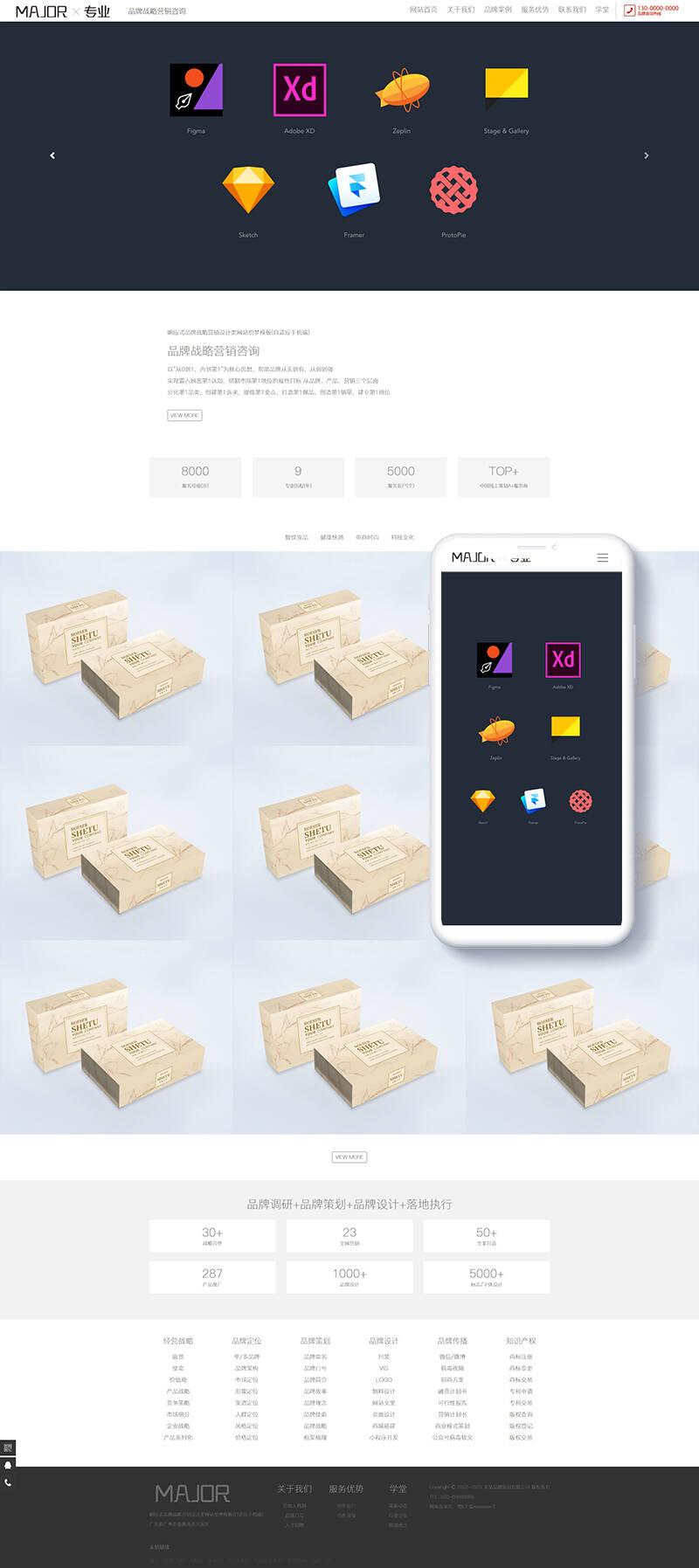 设计类模板源码,织梦响应式品牌战略营销设计类网站织梦模板(自适应手机端),陌佑网插图