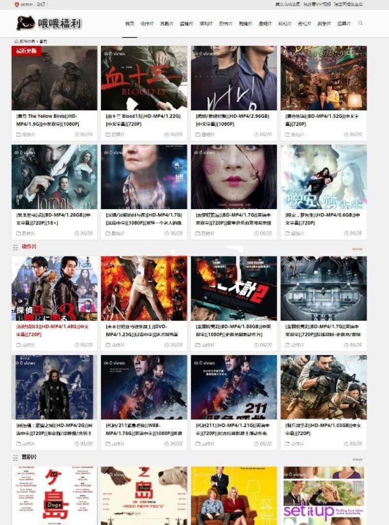 WordPress主题系统,BT电影资源BT种子采集网站源码+手机端,数据打包插图